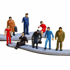 100PC Scale 1:150 Mix Painted Model Train Street Passenger Figures People & M4L7