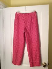 Ladies Talbots Size 4 Red/white Cropped Pants Fully Lined