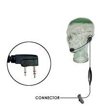 Klein Razor Lightweight Headset for Kenwood 2-Pin Two Way Radios