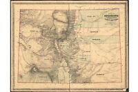 Map of Colorado Territory; Central Gold Region; Antique Map 1862
