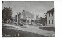 C63/ Village New York NY Real Photo RPPC Postcard c1950 Reprint Horse Store