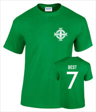 George Best Northern Ireland No 7 Mens Retro Football T-Shirt