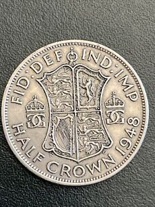 1948 George VI Half Crown Coin