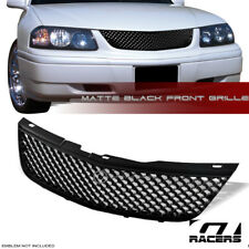 MATTE BLACK FOR 2000-2005 CHEVY IMPALA LUXURY MESH FRONT BUMPER GRILL GRILLE ABS