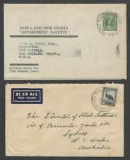 Papua New Guinea 1948-52 covers & a wrapper with Australia stamps (3)