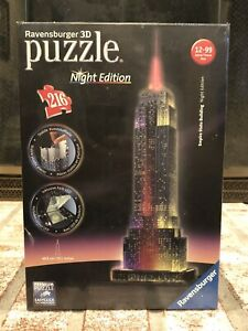 Ravensburger Empire State Building - Night Edition - 216 Piece 3D Jigsaw Puzzle