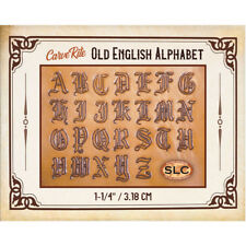 "Springfield Leather Co. Veg Tan Carve Rite Old English Alphabet 1-1/4"" Aid"