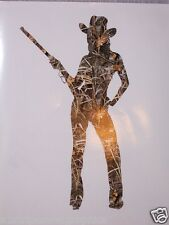 Real Tree M4 CAMO Cow girl Country SILHOUETTE Woman Window DECAL Decals Sticker