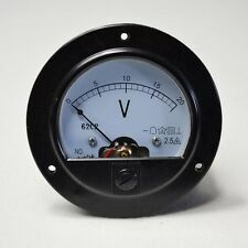 High Quality Round Analog Volt Panel Meter DC 20V