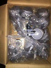 "12 Plate Casters 4"" Polyurethane Wheels Swivel Tough Caster Jarvis Wholesale"