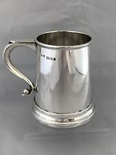 Solid Silver Half Pint Tankard 1965 London A Chick & Sons