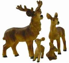 Krippenfiguren Tiere Rehe Rehfamilie 4 teilig für Figuren 9-12 cm