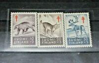 "FRANCOBOLLI FINLANDIA FINLAND 1957 ""MEDICINA TUBERCULOSIS"" MNH** SET (CAT.2)"
