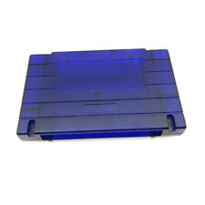 Transparent Blue Shell Cartridge Case For Super Nintendo SNES Snap-On