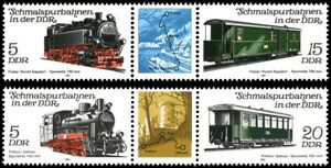 EBS East Germany DDR 1981 Narrow Gauge Railways (II) Michel 2629-2633 ZD MNH**