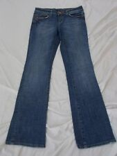 "6355 Juniors Womens Seven 7 Flare Blue Jeans, size 27 x 32"" inseam, Distressed"
