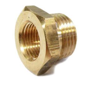 1x Spark Plug Thread Adaptors 18mm down to 14mm Brass (M14 & M18)