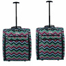 Ryanair Easyjet Set of 2 Cabin Approved Trolley Suitcase Hand Luggage Bag UK SEL