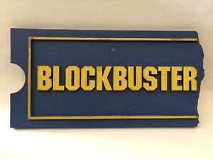 Vintage Blockbuster Video Retail Store Sign Original