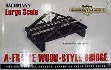 BACHMANN 96229 -G SCALE  A FRAME WOOD-STYLE BRIDGE  W TRACK - NIB