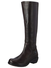 FLY London MISTRY Dark BROWN Leather Knee Boots US 5.5-6 EU 36