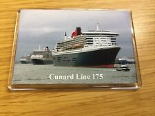 Cunard Line 3 Queens 175th Anniversary Fridge Magnet (Large) Cruise Ship Liner b