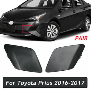 Pair For Toyota Prius 2016-2017 Front Bumper Tow Hook Cover Left and Right Side