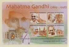 """Antugha Barbuda 2011 MS MNH Mahatma Gandhi """"CONQUER AN OPPONENT WITH LOVE"""""""