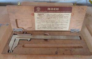 Pied à coulisse de précision de marque Roch dans sa boite d'origine