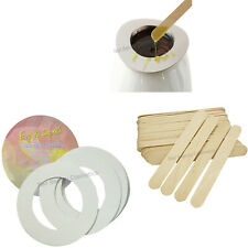 Wax Warmer Kit Wax Applicator Sticks Wax Warmer Collar Protective Rings