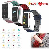 Damen Herren Smartwatch EKG + PPG Pulsmesser Sport Fitness Tracker für iPhone