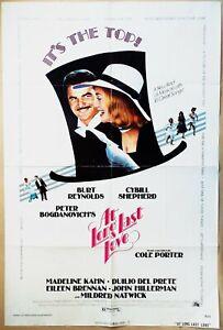 At Long Last Love 1975 Burt Reynolds & Cybill Shepherd in giant top hat! Poster