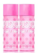 2 Victoria's Secret Pink FRESH & CLEAN Fragrance Mist Body Spray Gift