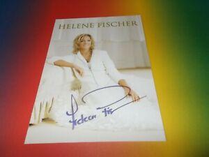 Helene Fischer sexy  signiert signed autograph postcard Autogramm in person