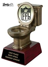 TOILET LAST PLACE LOSER FANTASY FOOTBALL TROPHY FREE ENGRAVING   FAST SHIPPING