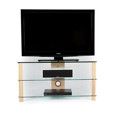 Demagio DM023 Wood / Glass TV Stand (Triple Finish)