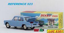 SIMCA 1500 BLEUE #523 N°16 DANS LA SERIE OUVRANTS PAR DINKY TOYS / ATLAS