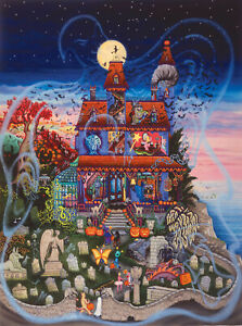 GHOST AND THE HAUNTED HOUSE Kathy Jakobsen SunsOut 1000 pc HALLOWEEN puzzle  NEW
