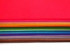 "Stiff Wool Felt Sheets - You will get 40 Sheets of 12"" x 12"" in Various Colors"