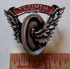 Md Vintage Triumph winged-wheel pin British motorcycle collectible biker pinback