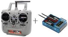 1000 Radio Hitec Lite 4 canali 2.4GHz Tx&Rx Mode1 + ricevente Minima6S 6 canali