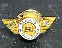 """BRANIFF INTERNATIONAL AIRLINES   """"20 YEAR SERVICE PIN"""" 10K gold"""