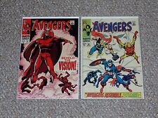 Avengers # 57 & 58 Set 1st Appearance & Origin of Vision Mid-Grade Condition