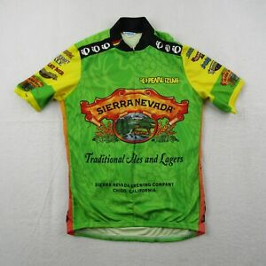 Vintage Pearl Izumi Cycling Jersey Adult Large Sierra Nevada Green 3/4 Zip Beer