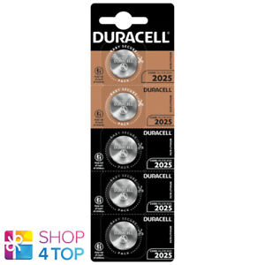 5 DURACELL CR2025 LITHIUM BATTERIES 3V CELL COIN BUTTON 5BL BLISTER EXP 2030 NEW