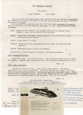 1958 Advertising Flier with Photo of the Joy Fiberglass Runabout Boat Vancouver