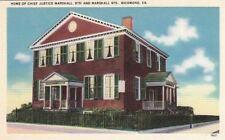 Postcard Home Chief Justice Marshall 9th + Marshall Sts Richmond VA