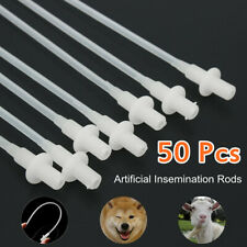 50X Canine Dog Goat Sheep Artificial Insemination Breed whelp Soft Catheter Rod