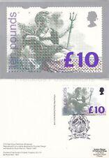 GB PHQ CARD NO. D1 1993 BRITANNIA HIGH VALUE DEFINITIVE REAR WINDSOR FDI