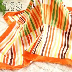Vintage Elegant Designs Silk Satin Feel Ladies Small Square Head / Neck Scarf 89